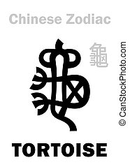 (sign, zodiac), chino, tortuga, astrology: