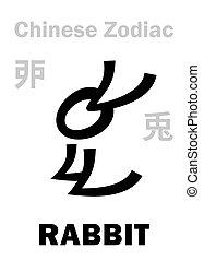 (sign, zodiac), cinese, astrology:, coniglio