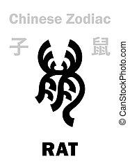 (sign, zodiac), ratón, rata, chino, /, astrology: