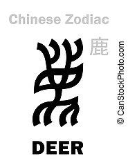 (sign, zodiac), venado, chino, astrology: