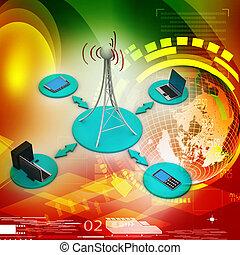 signaal, networking, toren