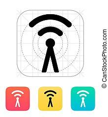 signaal, radiouitzending, radio, icon., antenne