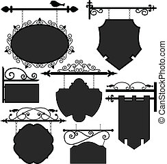 Signage Shop Sign Route - A set of ornate signage.