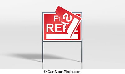 signage stand house for sale rent - the promotion signage of...