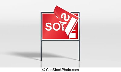 the promotion signage of house sale for investment concept