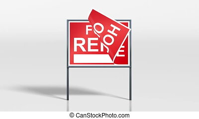 signage stand open house rent - the promotion signage of...