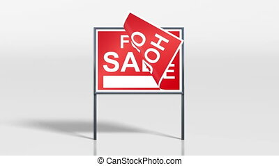 signage stand open house sale - the promotion signage of...