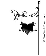 Signage - Black and White Series: Signage with Clipping Path