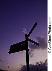 Signage upon the sky represents the decision making among...
