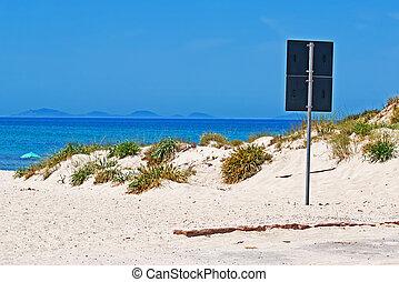 signal at the beach
