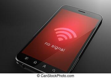 signal, begriff, nein, wifi