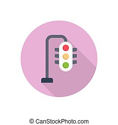 signal  flat color icon