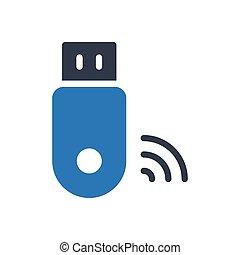 signal  glyph color icon
