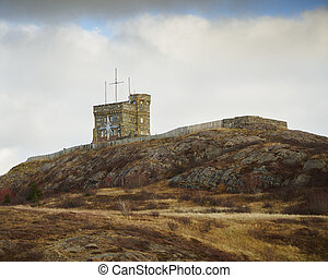 Signal hill historic site in the city of St. John's, ...