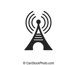 signal, illustration, vecteur, logo, tour, icône
