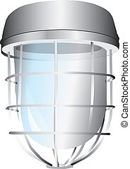 Signal lamp with the lattice. Vector illustration.