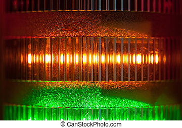 signal lights close-up background