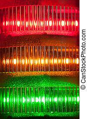 signal lights close-up