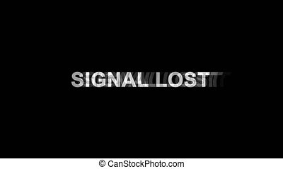 Signal Lost Glitch Effect Text Digital TV Distortion 4K Loop...