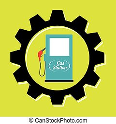 signal of gasoline isolated icon design