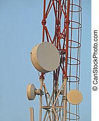 signal, réception, tour, pour, mobile, compagnie