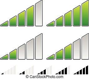 Signal Strength Indicator Symbol Set - Progress Indicators...