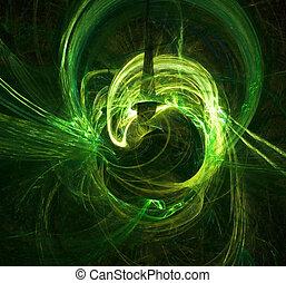 signalljus, grön