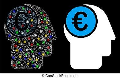 signalljus, kadaver, euro, fläckar, maska, ikon, själ