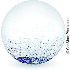 signaltjänst, abstrakt,  global, runda, bakgrund