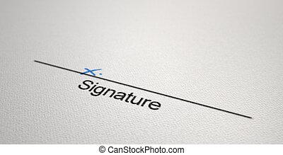 Signature Area X