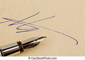 signature on a contract - a contract or document is signed...