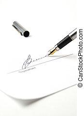 Signature - Pen and signature page. White tone