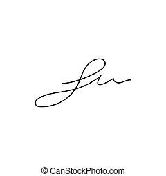 Signature symbol s initial letter