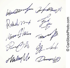 Signature Vector Autograph Name