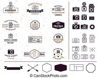 signatute, fotógrafo, sinal, estúdio, elemento, ícone, foto