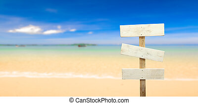 signboard at the beach