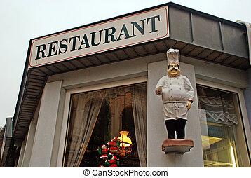 signboard, restaurante