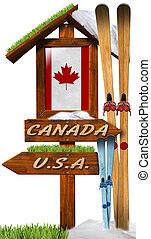 Signboard Skiing in Canada