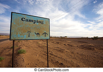 Signboard to Campsite