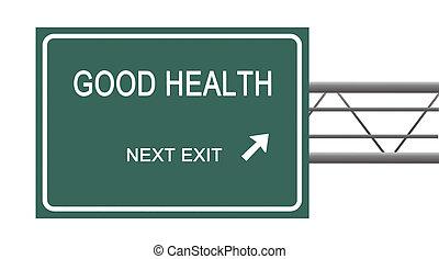 signe, à, bonne santé