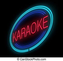 signe., éclairé, karaoke