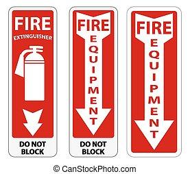 signe, équipement, symbole, brûler, fond, blanc