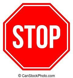 signe, arrêt, graphiques, vecteur, conception, symboles, -traffic