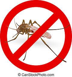 signe., arrêt, moustique