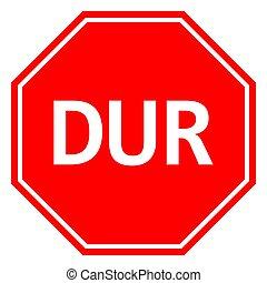 signe, arrêt, vecteur, trafic, turc, illustration, avertissement