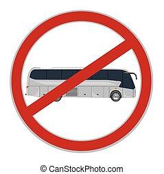 signe, autobus, vecteur, illustration, non