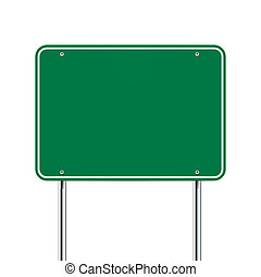 signe blanc, vert, route