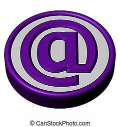 signe bleu, e-mail, bouton