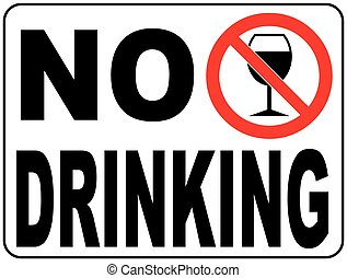 signe, boire, vecteur, illustration, non
