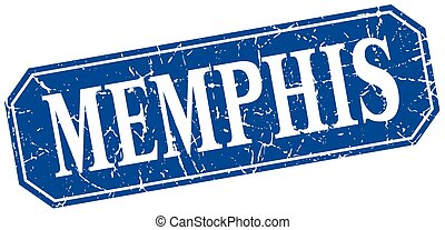 signe, carrée, memphis, style, retro, grunge, bleu